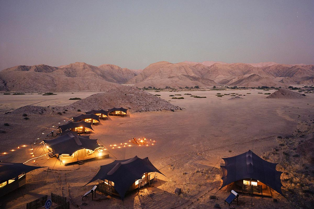 Natural Selection, Hoanib Valley Camp, Tents, NamibiaReisekonzept